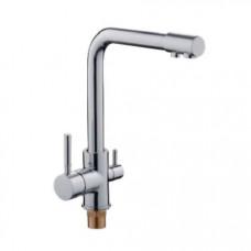 Смеситель LEDEME L4155-3 хром с выходом для питьевой воды