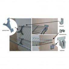 Заглушка-наконечник для сетчатой полки белый