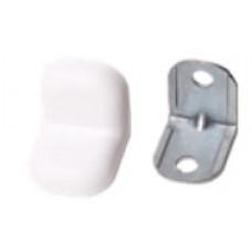 Уголок металл+пласт. маленький Белый