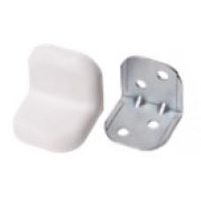 Уголок металл+пласт. большой Белый