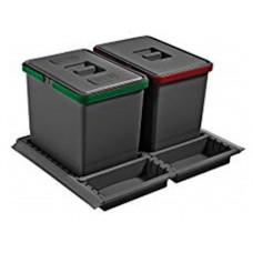 ELLETIPE Контейнер для мусора 600мм 2х15 л (PTC28 06050 3F C97 PPV)