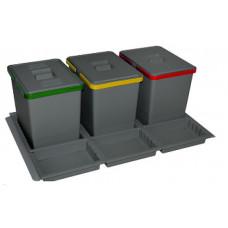 ELLETIPE Контейнер для мусора 800мм 3х15 л (PTC28 08050 1F C97 PPV)