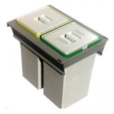 ELLETIPE Контейнер для мусора 450мм 2х24л