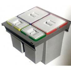 ELLETIPE Контейнер для мусора 600мм 2х24л 2х8л