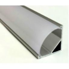 Профиль угловой ПОЛУКРУГЛЫЙ для светодиодной ленты 16*16*2000 (комплект)
