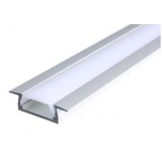 Профиль врезной 251-2 для светодиодной ленты 22-6-2000м + КОМПЛЕКТ