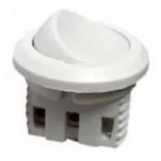 Выключатель врезной круглый (белый) D27